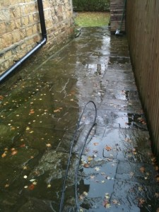 Slippy Path Down side of House