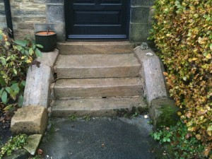 Cleaned Steps leading to Doorway