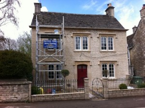 House During Lime Pointing Works