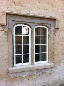 Window with poultice on sulphation